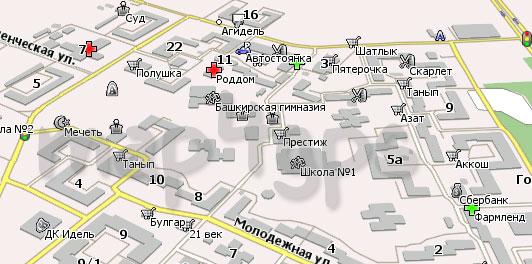 Карта Агидель для Навител Навигатор
