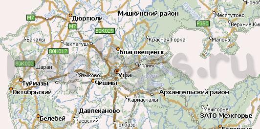 Новая карта Башкирии для Навител