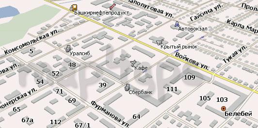Карта Белебея для Навител