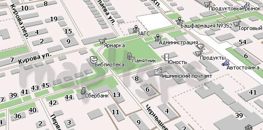 Карта Чишмы для Навител