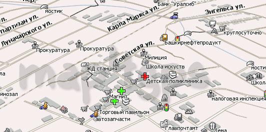 Карта Давлеканово для Навител