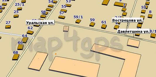 Карта Дюртюли для GisRX