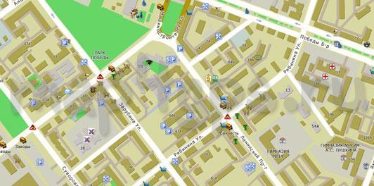 Карта Йошкар-Ола для TourMap