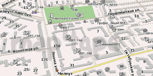 Карта Мелеуз для Навител Навигатор