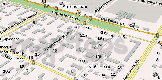 Карта Нефтекамска для Навител Навигатор