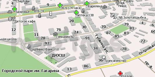 Карта Октябрьского для Навиител Навигатор