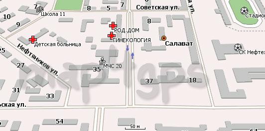Карта Салавата для Навител