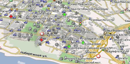 Карта Уфы для Навител