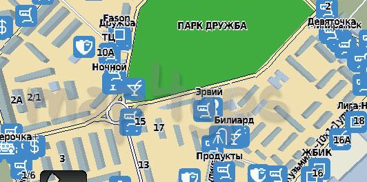 Карта Волжск Rusa