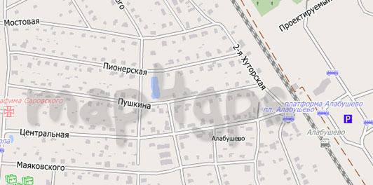 Карта Алабушево для City Guide