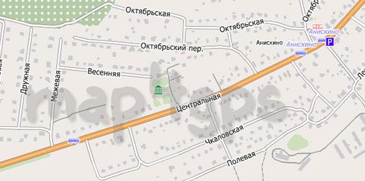 Карта Анискино для City Guide
