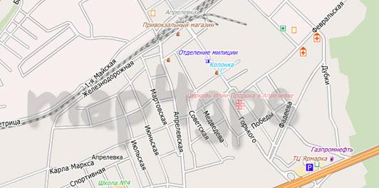 Карта Апрелевки для City Guide
