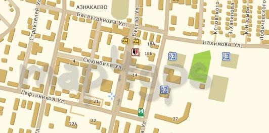 Карта Азнакаево TourMap