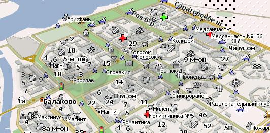 Карта Балаково Навител