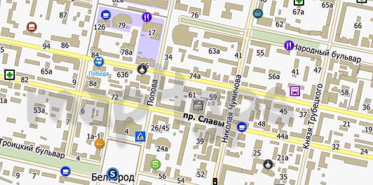 Карта Белгорода City Guide