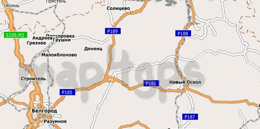Карта Белгородская область City Guide
