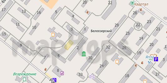 Карта Белоозерского для City Guide