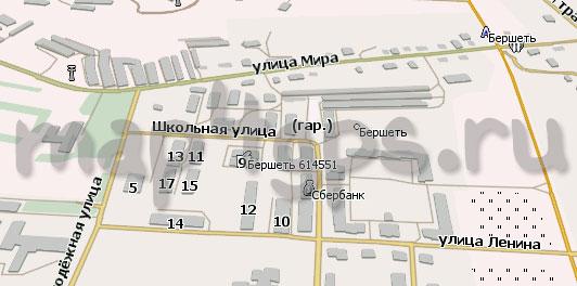 Карта Бершеть Навител