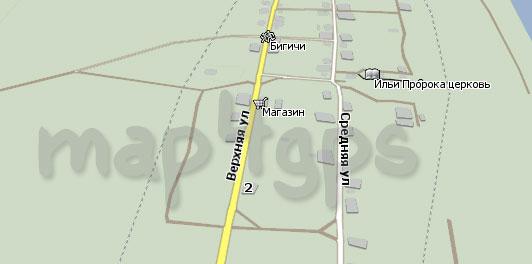Карта Бигичи Навител