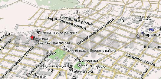 Карта Борское Навител