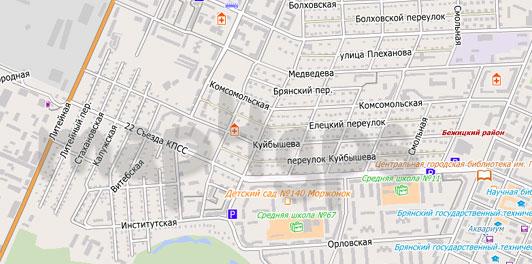 Карта Брянска City Guide