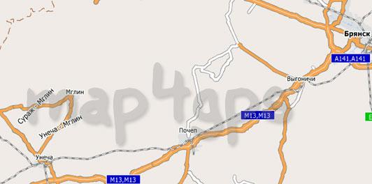 Карта Брянской области City Guide