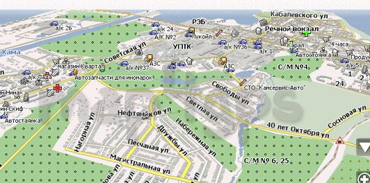 Карта Чайковский Навител