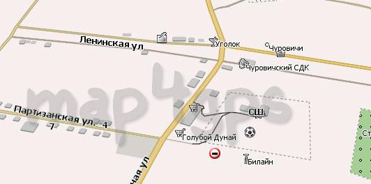 Карта Чуровичи Навител Навигатор