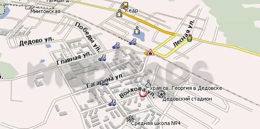 Карта Дедовск Навител