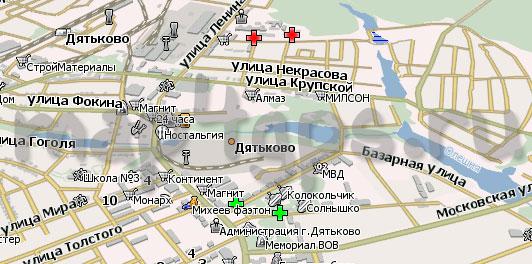 Карта Дятьково Навител Навигатор
