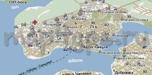 Карта Добрянка Навител