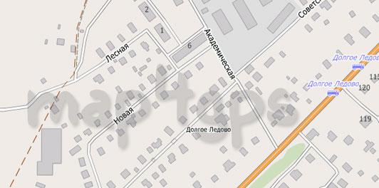Карта Долгое Ледовое для City Guide