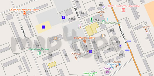 Карта Домодедово для City Guide