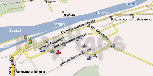 Карта Дубна Навител