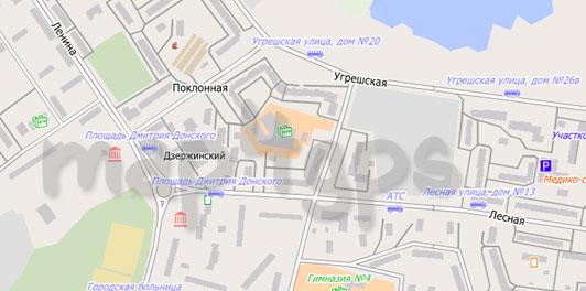 Карта Дзержинского для City Guide