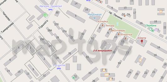 Карта Егорьевска для City Guide