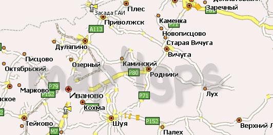 Карта Ивановская область Навител