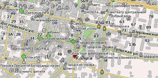 Карта Калуга Навител