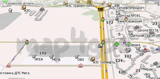 Карта Казани Навител