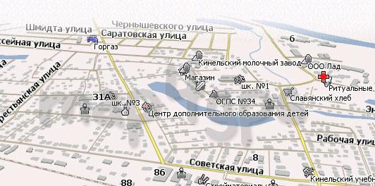 Карта Кинель Навител