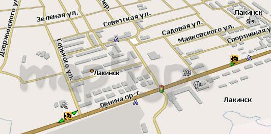 Карта Лакинска для Навител
