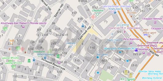 Карта Москвы для City Guide