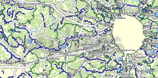 Карта Московская область для Семи дорог