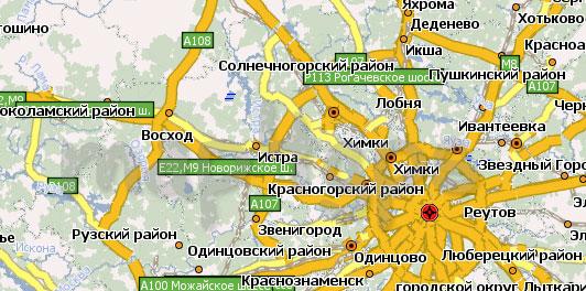 Карта Московская область Навител