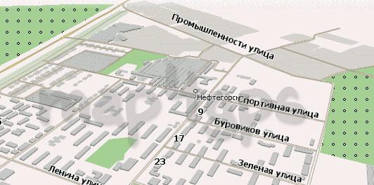 Карта Нефтегорск Навител