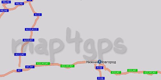 Карта Нижнего Новгорода для Навител Навигатор