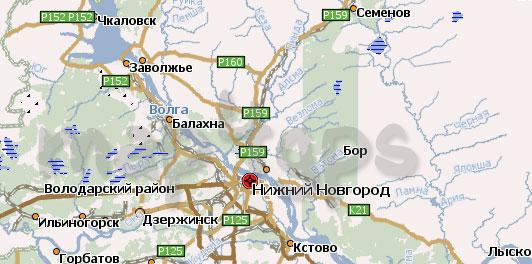 Карта Нижегородской области для Навител
