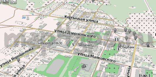 Карта Ныроб Навител