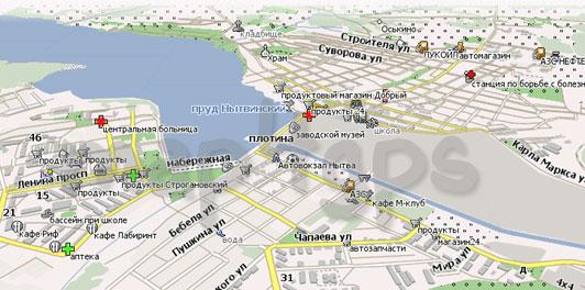 Карта Нытва Навител