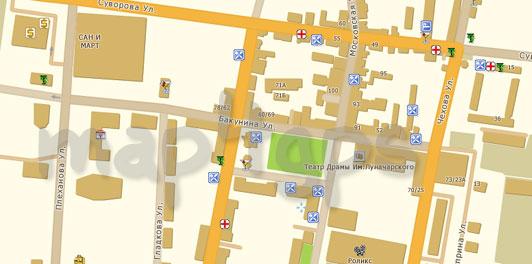 Карта Пенза TourMap